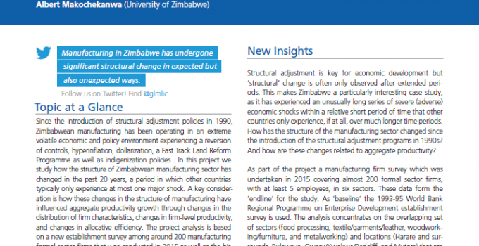 Wages and Structural Change in Zimbabwe's Manufacturing Sector